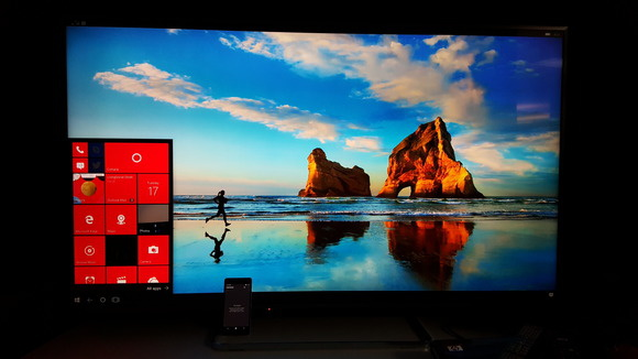 Continuum on a 60-inch display