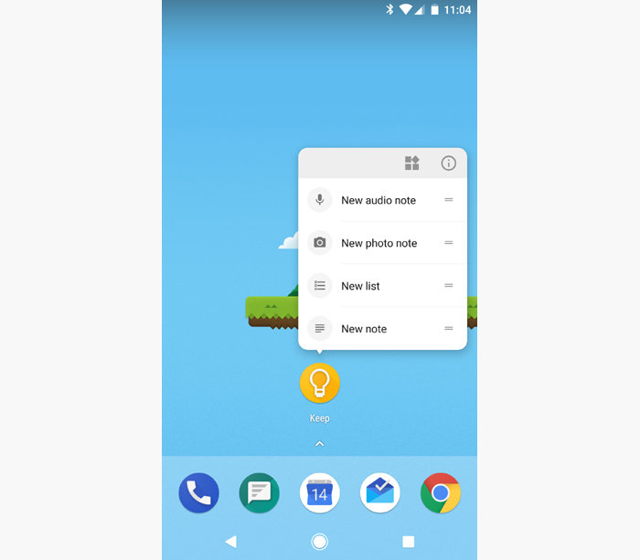 Android shortcuts - app shortcut menus