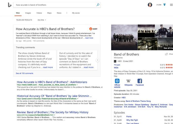 reddit 2 microsoft 3 Bing