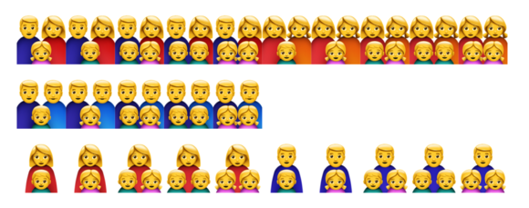 emoji ios10 expanded families