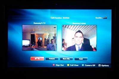 Samsung Series 7 (UA55C7000) Skype