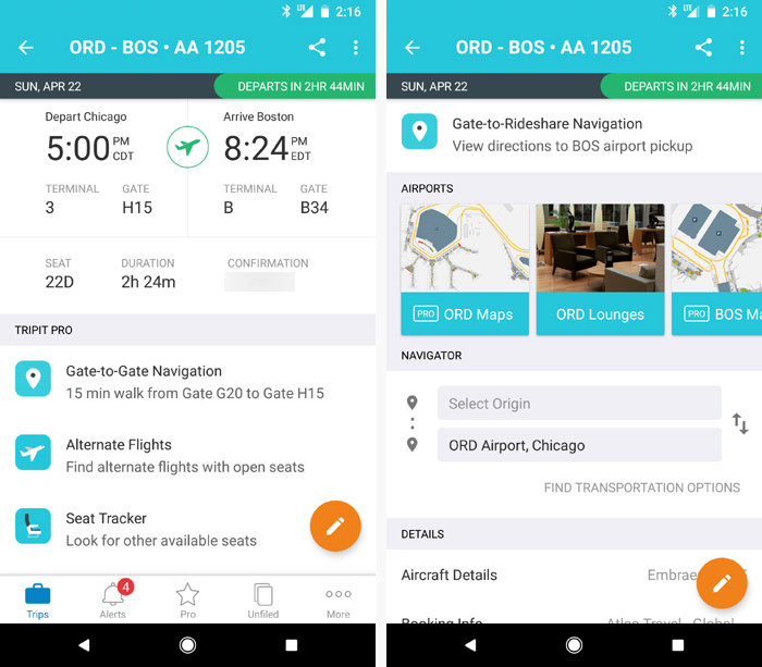 Android travel apps - TripIt