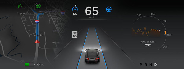 Tesla Model S autosteer