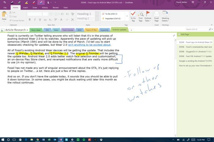 onenote desktop