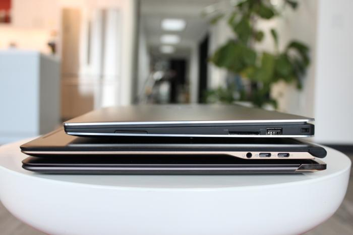 Acer Swift 7 side comparison shot
