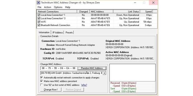 technitiium mac address changer