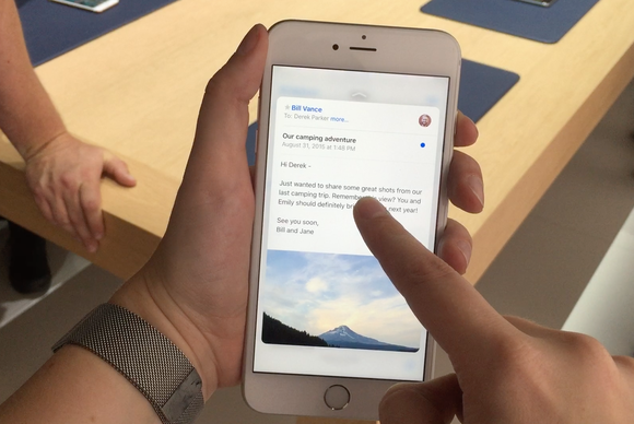 iphone6splus 3dtouch mail first