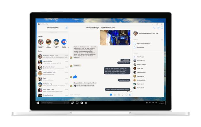 Facebook Workplace Chat app