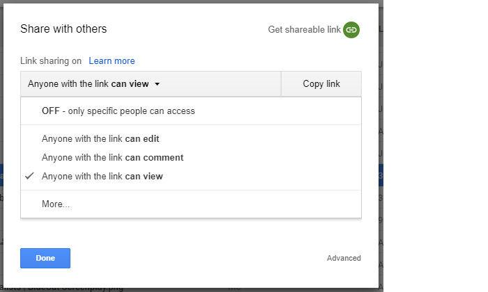 how to make a public google document