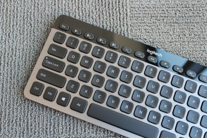 logitech k810 multi device keyboard left side