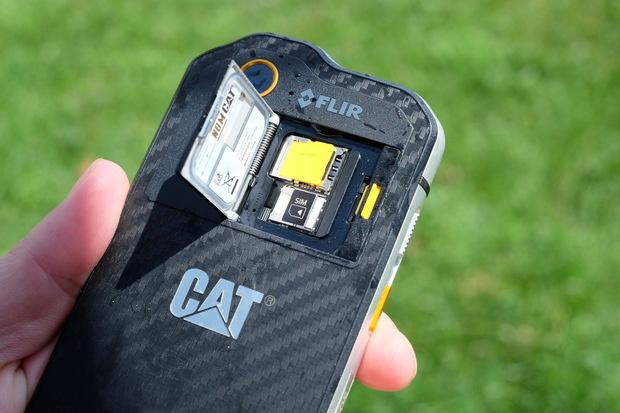 cat s60 sim and microsd card door