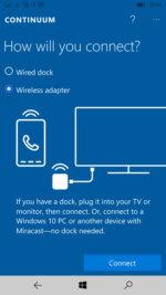 HP Elite X3 Windows 10 Mobile Continuum display