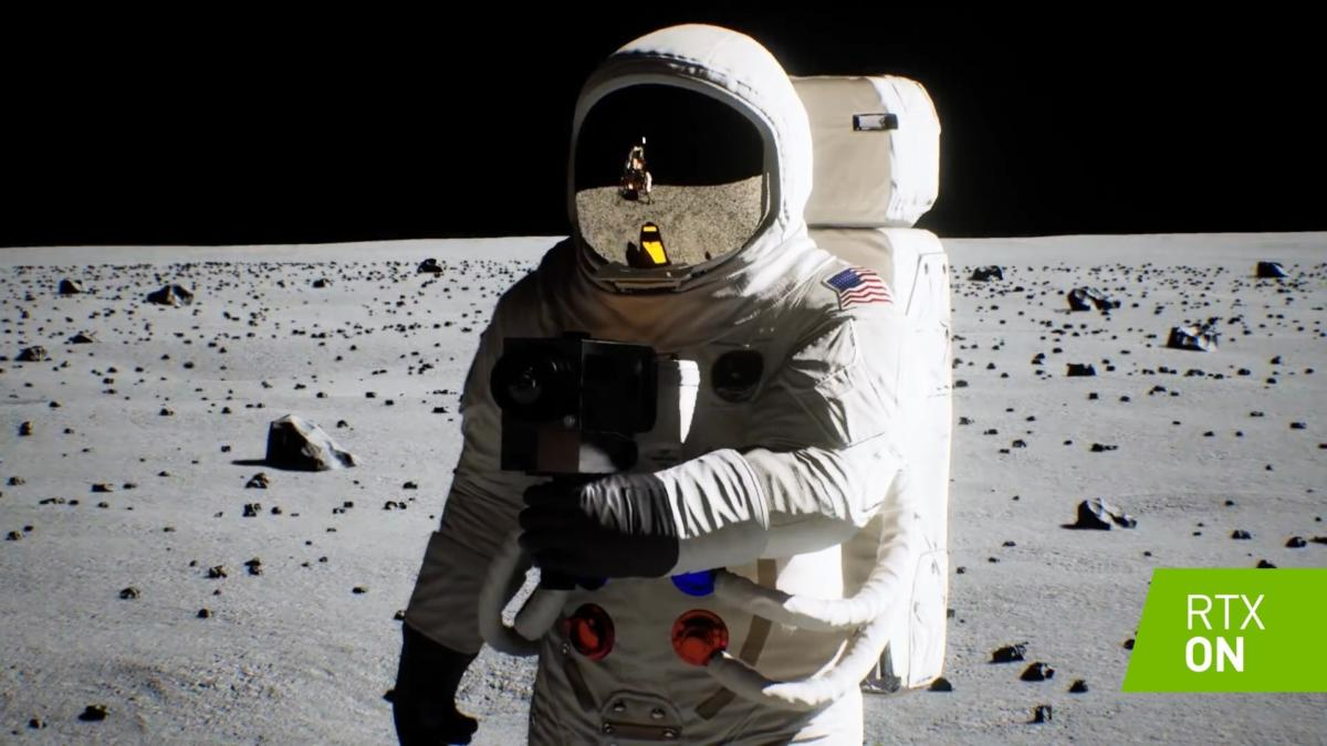 Nvidia moon landing 50th rtx 2