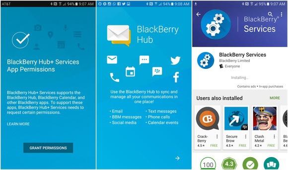 blackberry hug android