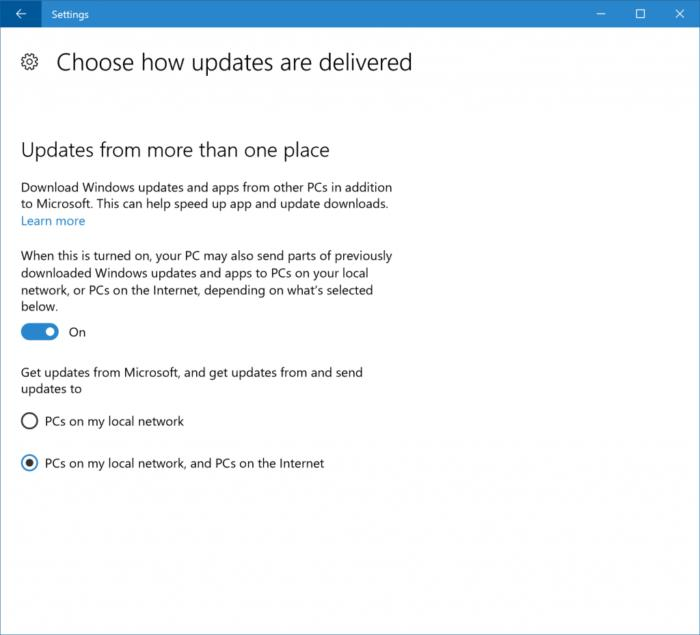 windows 10 creators update delivery optimization