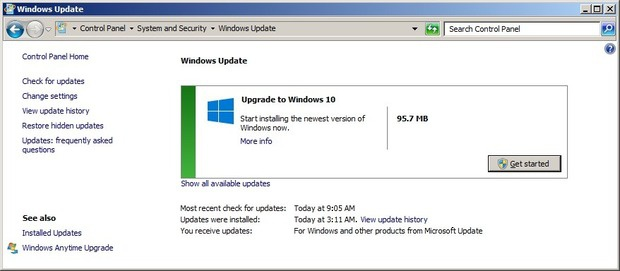 Upgrade to windows 10 part 1