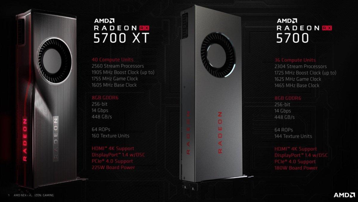 radeon rx 5700 xt high level