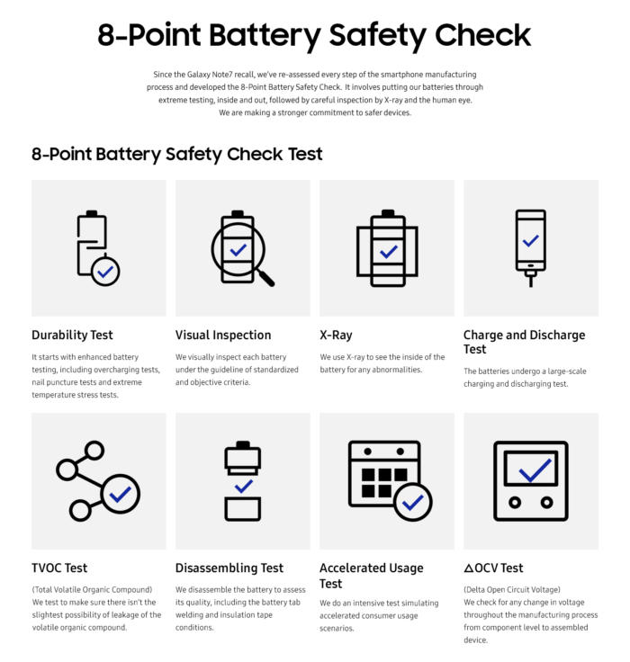 samsung 8 point check