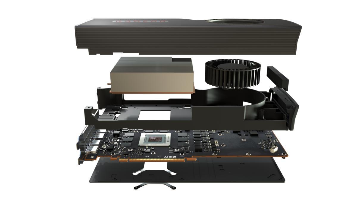 amd radeon rx 5700 xt graphics card teardown