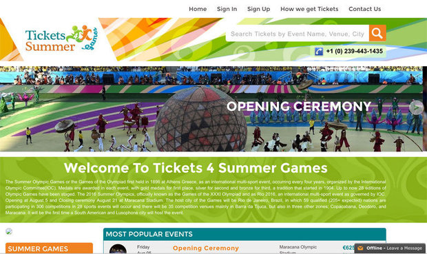 olympics fraud site
