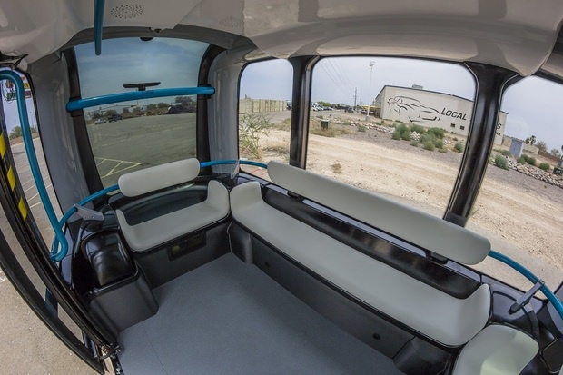 interior olli self driving shuttle