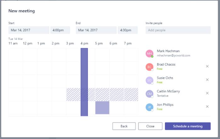 microsoft teams meetings scheduling assistant