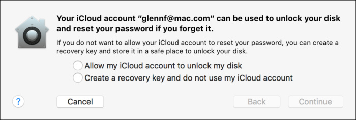 privatei enable filevault no cloud