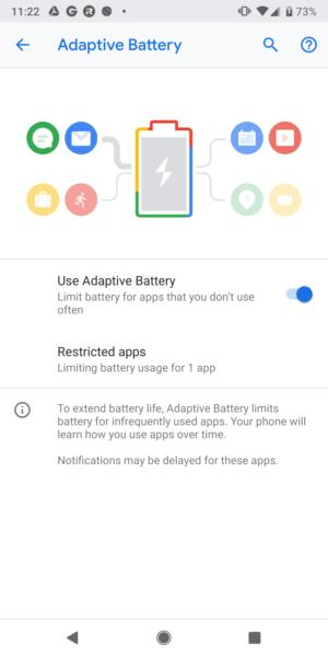 android pie adaptice battery