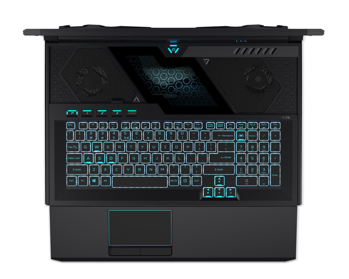 acer predator helios 700 keyboard vents detail