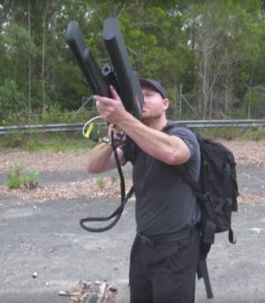 Drone hunting drone gun