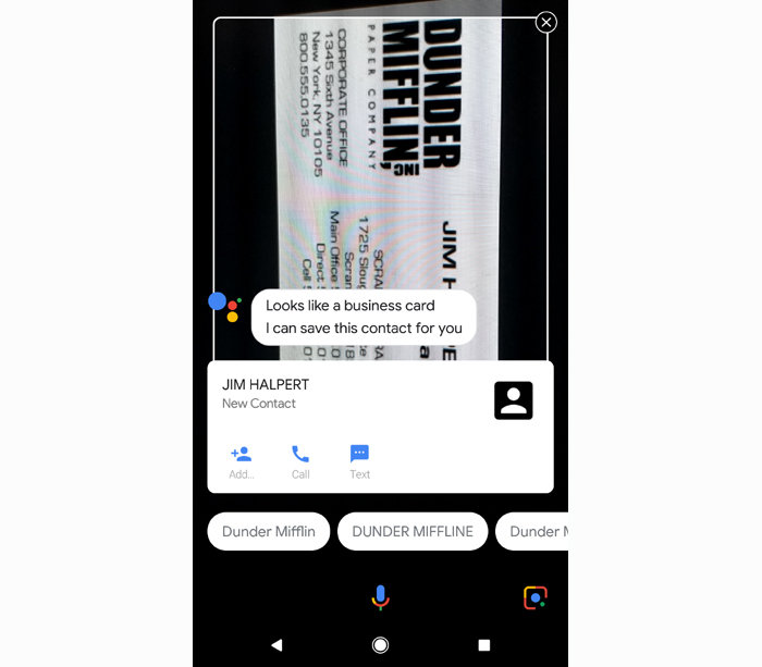 Google Assistant commands - Lens