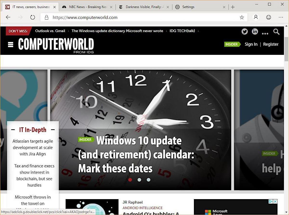 Edge dev browser