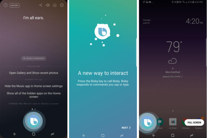 bixby home screen