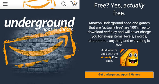 Amazon Android Underground app