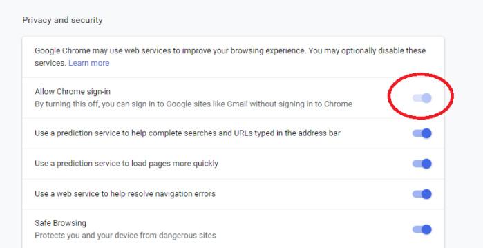 google 70 login settings