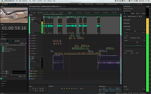 adobe audition cc 2015.2 ui with effects rack