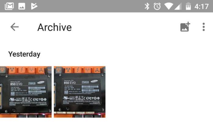 Google Photos archiving