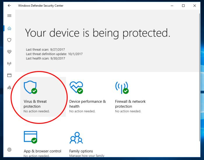 Protected folders windows 10 fall creators 1