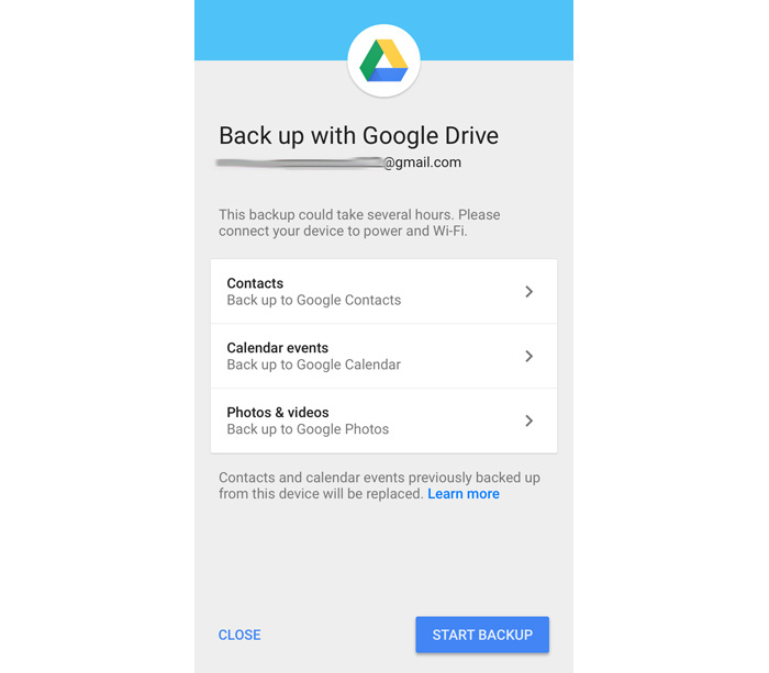 iPhone to Android switch - Google Drive iOS app setup