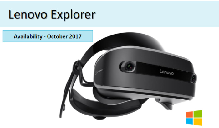 lenovo explorer head mounted display