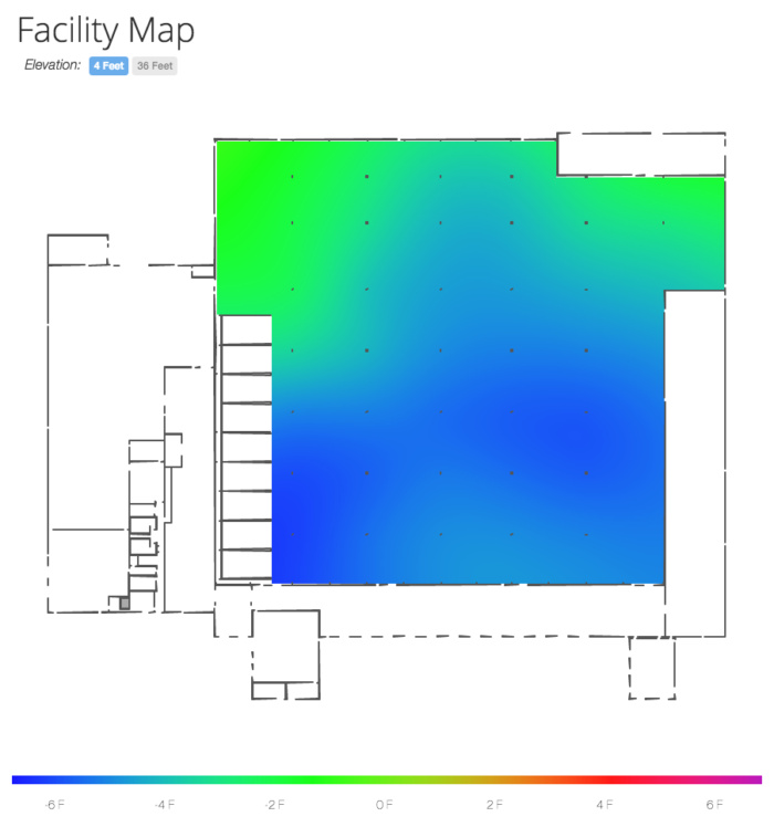 lineage logistics warehouse thermal map