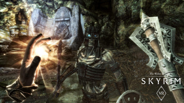 skyrim vr fight