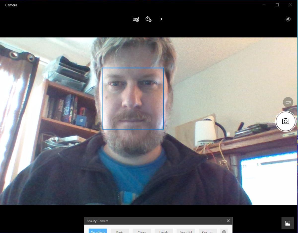 Samsung Notebook 9 Pro (2019) beauty camera no effects
