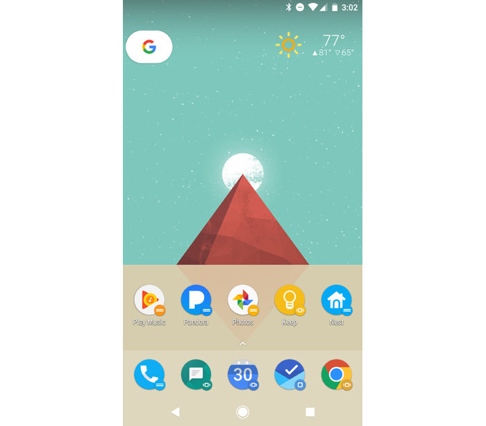 Android productivity tips - optimized home screen
