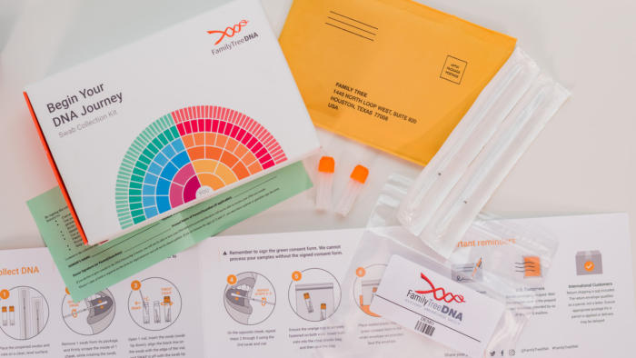 family tree dna kit parts