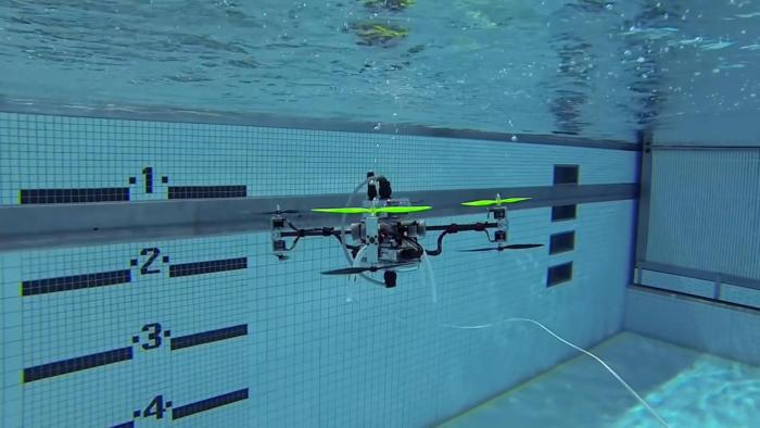Rutgers amphibious drone