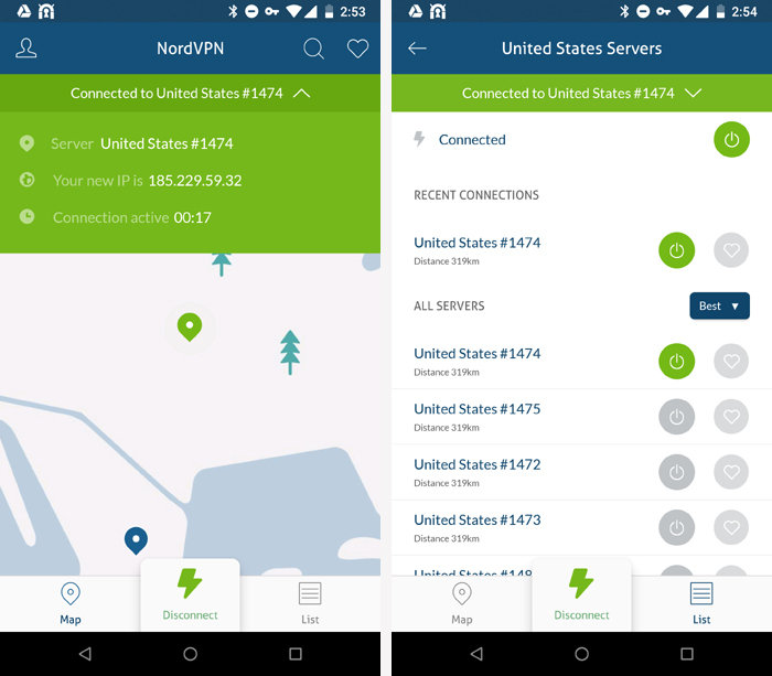 Android privacy security apps - NordVPN