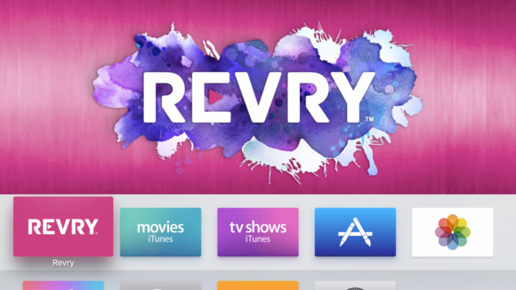 revry apple tv screenshot apple tv ui