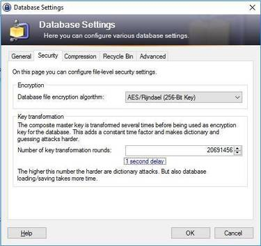 KeePass - encryption