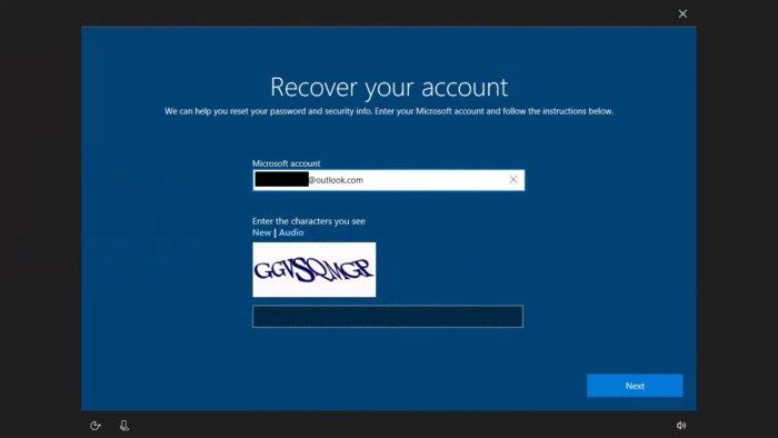 Reset password Windows 10 fall creators 1